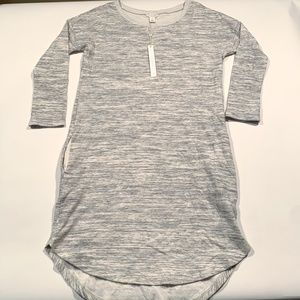 NWT Caslon Nordstrom Gray  Pockets Sweater Dress